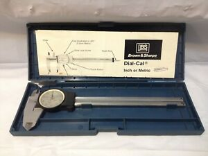 Brown Sharpe 599 579 5 Precision Dial Caliper W case Instructions Metalworking