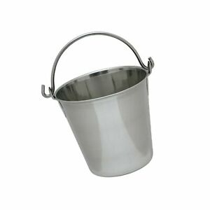 Lindy s Stainless Steel Pail 4 Quarts Silver