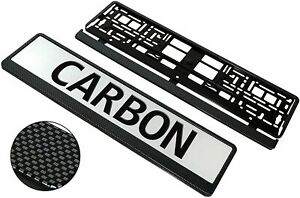European License Number Plate Frame Holder For Any Car Universal Carbon Look