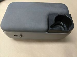 1998 2004 Ford Ranger Center Console Compartment Armrest W Cup Holder Grey
