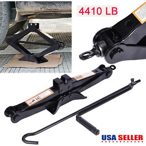 Car Scissor Jack 2 Ton Emergency Wind Up Lift Car Truck Repair Tool Tire Replace