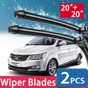 20 20 Windshield Wiper Blades Car Front Bracketless Premium All Season Us