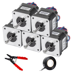 Vevor Nema 17 Stepper Motor 83 6 Oz in 2a 42x48 Mm High Torque For 3d Printer