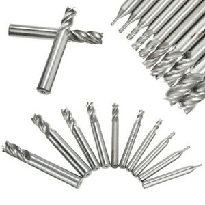 High Speed Steel End Mill Set Us Seller Free Shipping Lathe Cnc Metal Bits