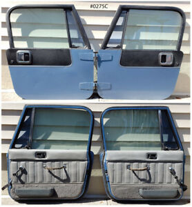 Full Hard Doors Spinnaker Blue Black 87 95 Jeep Wrangler Yj 76 86 Cj7 50 pics