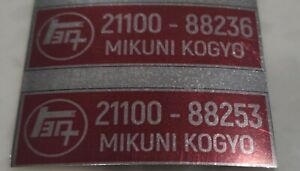 Solex Mikuni 40 Phh I d Labels Different Numbers
