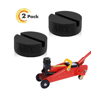 2x Universal Jack Pad Jack Pad Floor Rubber Jack Stand Pads Adapter For Car Jack