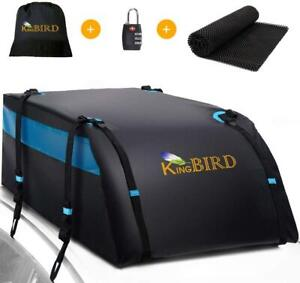 King Bird 20 Cubic Roof Top Cargo Carrier All Cars Waterproof Travel Storage Bag