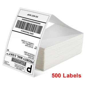 500 Fanfold Direct Thermal Labels 4x 6 Shipping Barcode Labels For Zebra Rollo