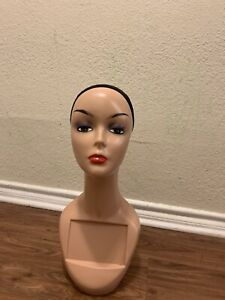 Female Mannequin Head Bust Wig Hat Jewelry Display Model Stand With Net Cap Usa