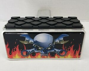 New Skull Head 2 Trailer Hitch Receiver With A Rubber Step