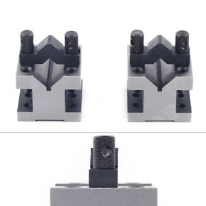 Precision Engineers Vee Blocks With Clamps Set V Block Matched Set Tools 28mm Us