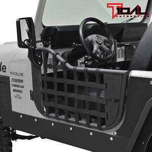 Tidal Matrix Tubular Door Left Right With Mirror Pair Fit For 76 95 Jeep Cj7 Yj