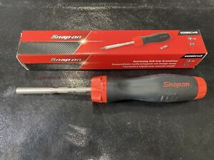 Snap On Tools Red Black Soft Grip Ratcheting Screwdriver Sgdmrc44b