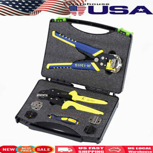 5 In 1 Wire Crimper Crimping Tool Kit Pliers Set Cutter Ratcheting Terminal Tool