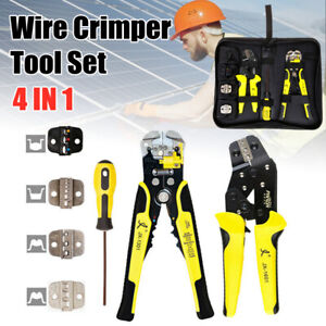 4 In 1 Wire Crimpers Tool Kit Ratcheting Terminal Crimping Pliers Terminals Tool