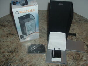 New Rolodex Covered Business Card File W 300 Ruled Cards A z Index Tabs Have