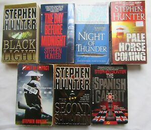 Lot of 7 Paperback Stephen Hunter Thrillers Bob Lee Swagger Series amp; Others $13.00