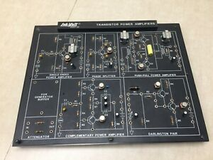Lab volt 91007 20 Transistor Power Amplifiers Circuits Board Electronics Facet