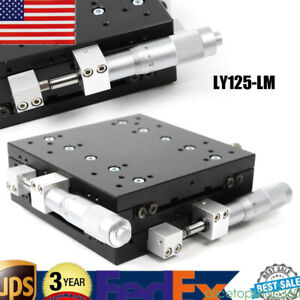 Xy Axis Optical Trimming Platform Manual Sliding Table Tuning Displacement 46mm