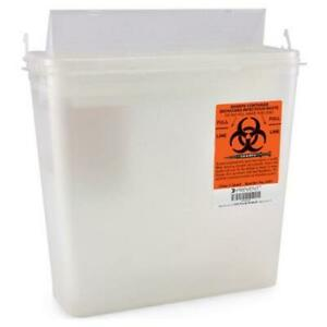 Sharps Container 10 3 4 H X 10 1 2 W X 4 3 4 D Inch 1 25 Gallon Lid Horizontal