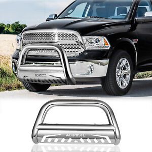 Stainless Steel Front Bull Bar Bumper Grille Guard For 09 16 Dodge Ram 1500 Usa