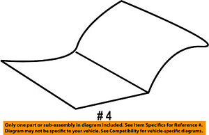 Jeep Chrysler Oem 2004 Liberty Front Seat cushion Bottom Cover Right 5126304aa
