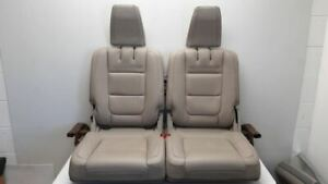 13 2013 Ford Explorer Oem Third Row Rear Seat Manual Fold Gray Leather