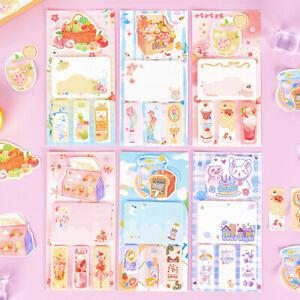Cartoon Sticky Notes Memo Pad Stickers Page Marker Tabs Index Office Supplies
