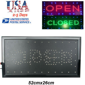 2in1 Open And Closed Bright Led Neon Sign Store Shop Business Bar Indoor Use Usa