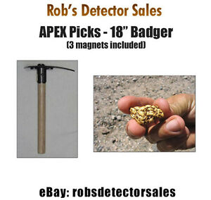 Apex 18 Badger Prospecting Pick Gold Prospecting Pick For Gold Nuggets