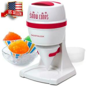 Snow Cone Maker Machine Countertop Electric Margarita Slushy Ice Crusher Shaver