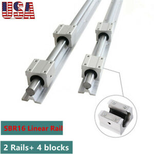 Sbr16 300 2000mm Linear Slide Rail Guide Shaft Rod 4pcs Sbr16 Bearing Block Cnc