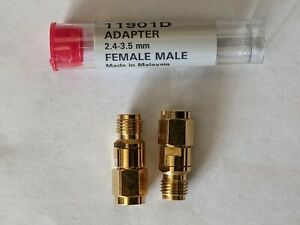 Agilent 11901d Adapter 2 4mm Female 3 5mm Male Dc To 26 5ghz