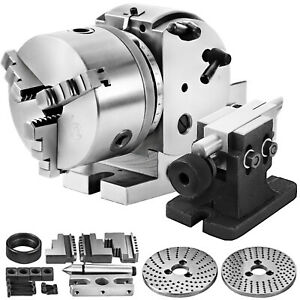 Bs 0 Semi 5 034 Indexing Dividing Spiral Head 3 jaw Chuck Tailstock Cnc Millin