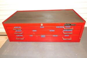 Mac Tools Chest 3 Large Drawers Red Tool Box Chest ships