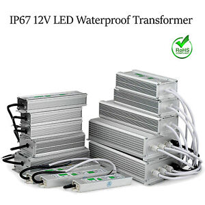 12v Waterproof Led Driver Power Supply Transformer Psu Ip67 10w 350 W Led Strip
