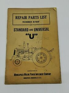 Antique Repair Parts List Standard And Universal u Minneapolis Moline Manual