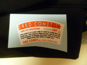 Decal Sticker For The Red Comet Glass Fire Extinguisher