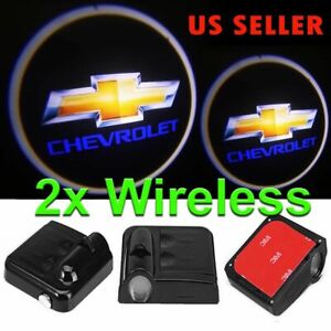 Logo Wireless Led Courtesy Car Door Ghost Shadow Projector Light Fit Chevrolet