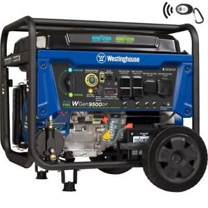 Westinghouse 12 500 w Portable Hybrid Dual Fuel Gas Generator With Remote Start