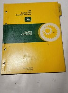 John Deere 208 Lawn And Garden Tractor Parts Catalog Pc 1617