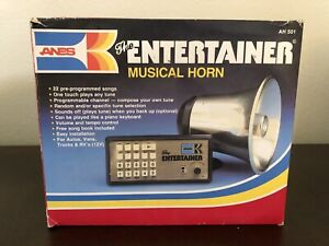 New In Box Musical Horn 22 Songs Entertainer Anes 1982 Vintage Car Truck
