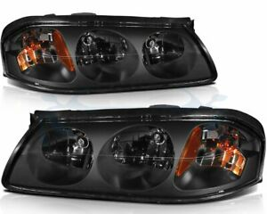 Fits 2000 2005 Chevy Impala Headlights Assembly Headlamps Left right Sides Pair
