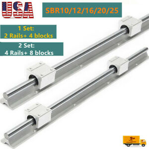 Sbr12 16 20 10 25 Linear Rail Guide Shaft Sbr12 16 20 10 25uu Bearing Block