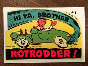 Vintage 1950s Hot Rod Decal