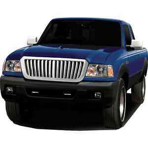 Vertical Bar Replacement Grille For 2004 2009 Ford Ranger chrome Premium Fx