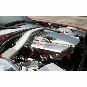 Engine Shroud Cover For 2012 2015 Chevy Camaro Zl1 Stainless Steel Polished