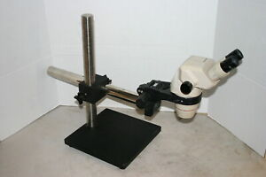 Olympus Sz 4045 Stereozoom Microscope 7 40x On Boom Stand Nice