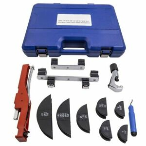 Pipe Bender Hvac Refrigeration Ratchet Tube Bending Heads Cutter Tool Kit